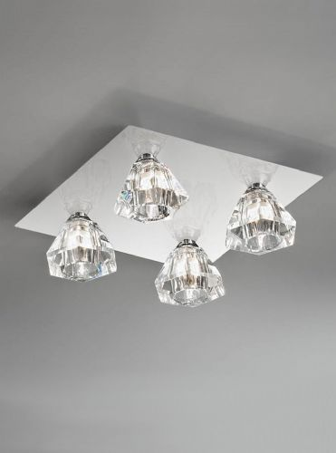 Franklite FL2245/4 Chrome Ceiling Light